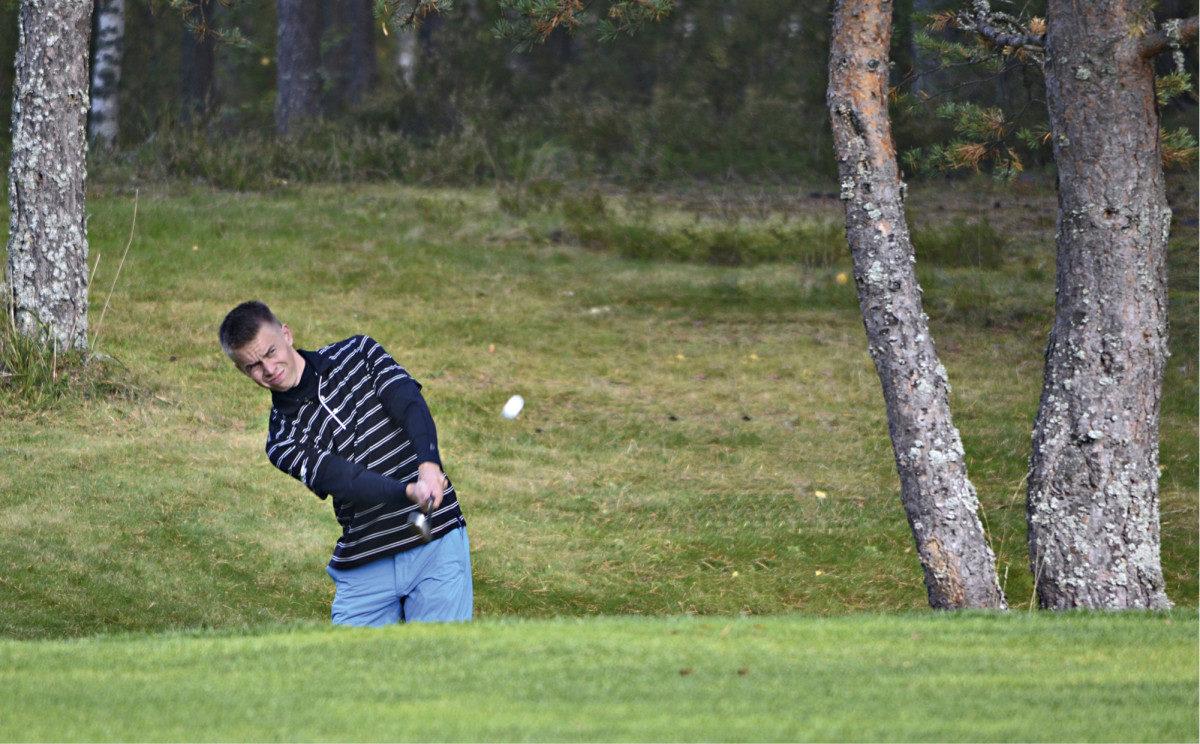 Olvin Miikka Honkasalo on pelannut golfia viisi vuotta.
