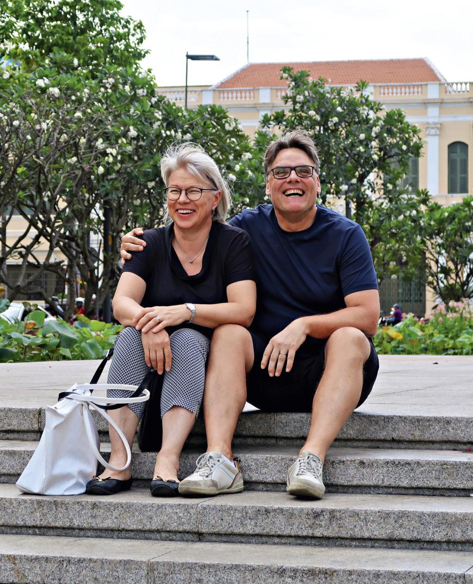 Anneli ja Harri Hakala olivat helmikuussa mukana Golflehden Svingaava Vietnam -lukijamatkalla.