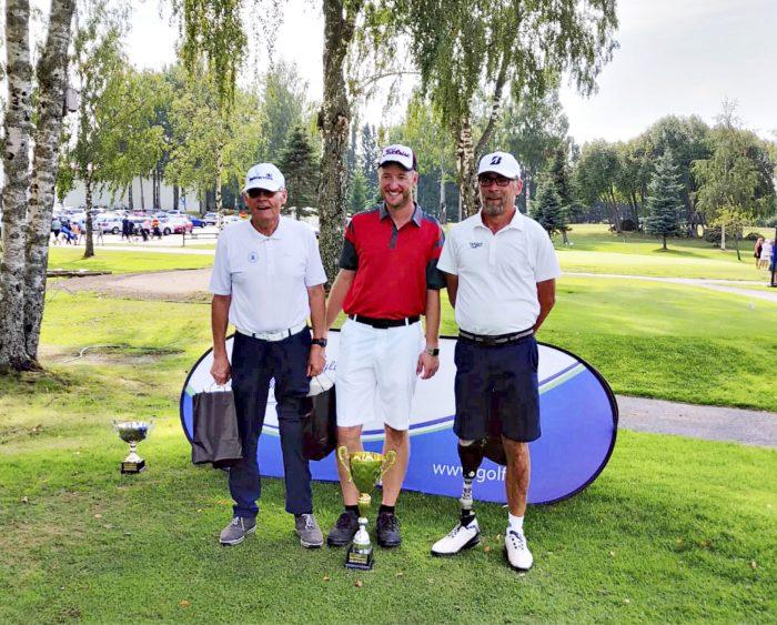 Lasse Miettinen (vas.), Timo Klischan ja  Tero Peltola.